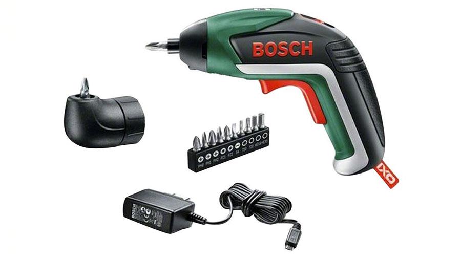 Bosch Visseuse sans fil IXO V Medium avec chargeur, 10 embouts de vissage et renvoi d'angle