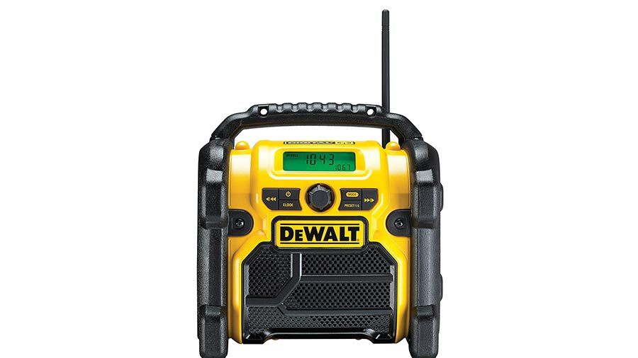 test et avis radio de chantier dewalt dcr020 qw bricolage. Black Bedroom Furniture Sets. Home Design Ideas