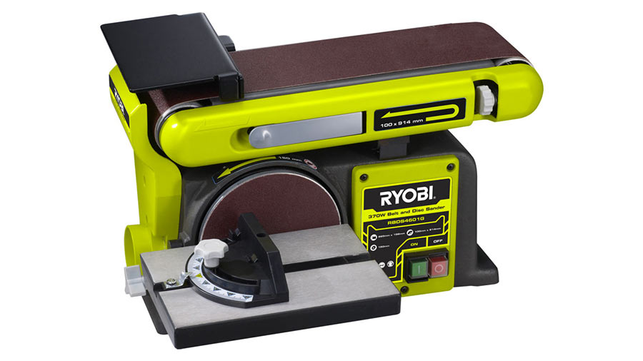 test et avis ponceuse bande et disque stationnaire ryobi rbds4601g travail du bois. Black Bedroom Furniture Sets. Home Design Ideas