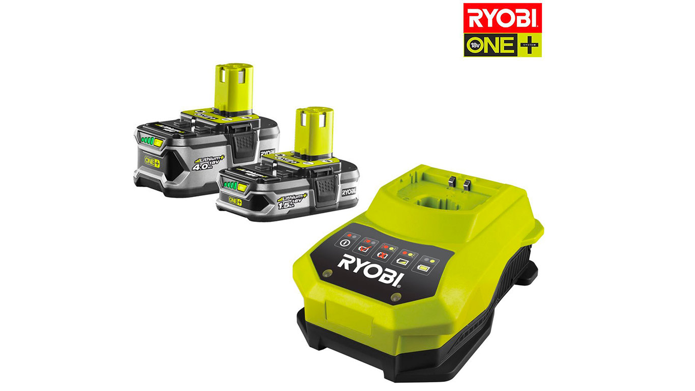 Pack Batterie Ryobi ONE + 18 V 1.5 Ah et 4.0 Ah RBC18LL415