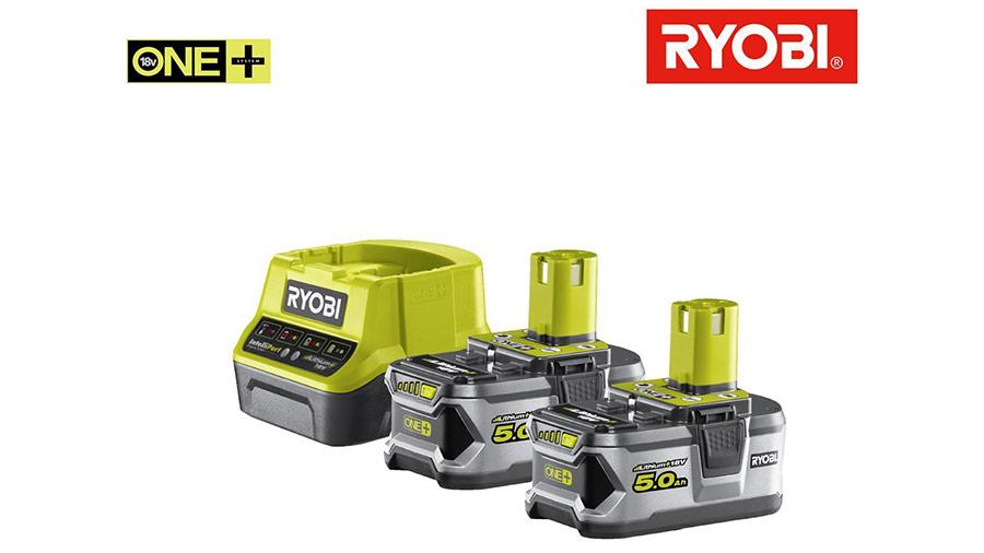 test et prix Pack batterie RYOBI 18V OnePlus 5.0 Ah promotion Lithium-ion 1 chargeur rapide RC18120-250