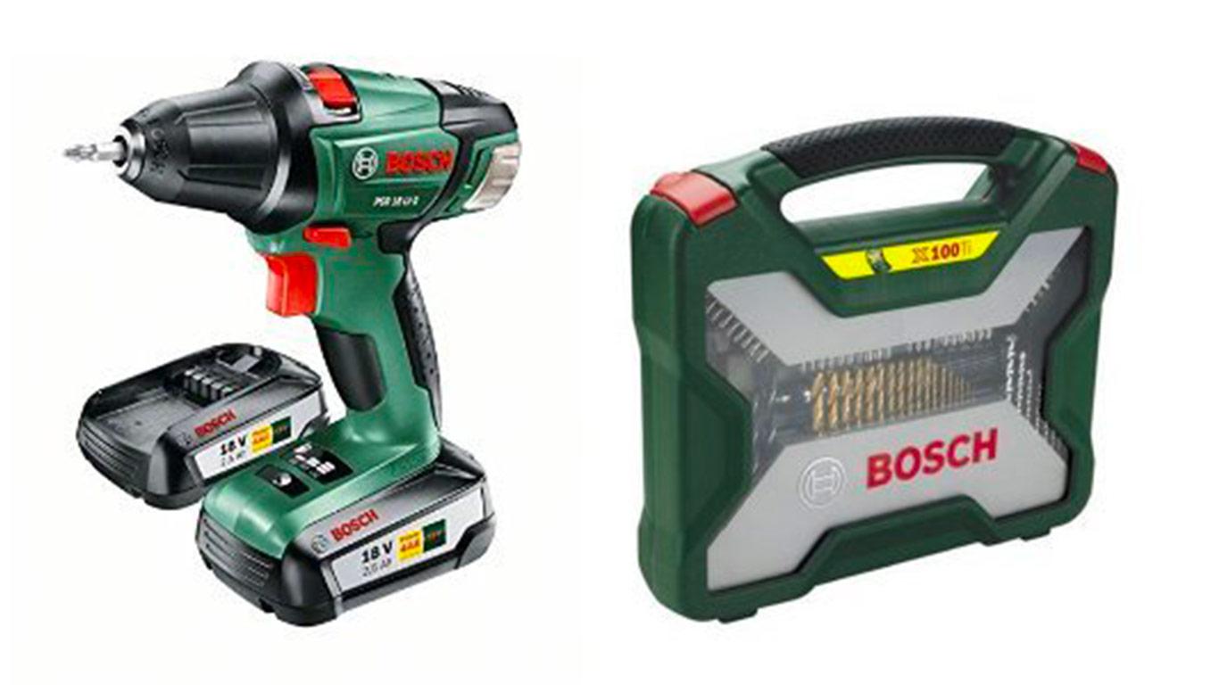 Test et avis perceuse visseuse sans fil bosch psr 18 li 2 et coffret x line 100 accessoires - Batterie perceuse bosch ...