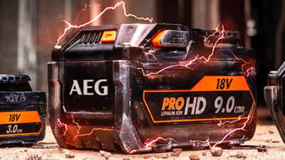 Batterie PRO HD 18 V 9,0 Ah AEG