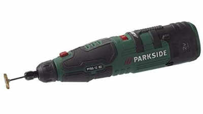 Meuleuse-perceuse de précision Parkside PFBS 12 B3 12 V