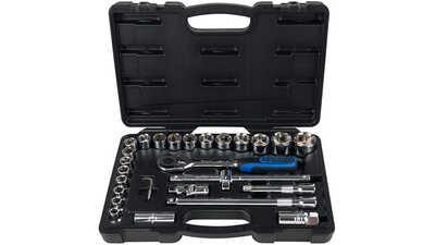 KS Tools 918.0728 Chrome + 1/2 6 pans Jeu de douilles 28 pièces