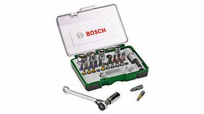 Bosch 2607017160 Coffret clé à cliquet 27 pièces pas cher
