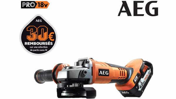 La meuleuse d'angle AEG BEWS18-125 18 V