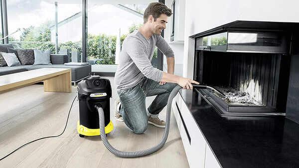 avis et prix aspirateur à cendres AD 4 Premium Kärcher 2 en 1 cendres et poussières fines