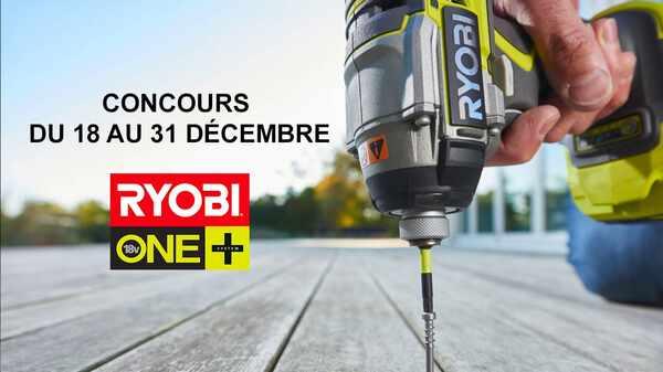 Jeu concours : Outils RYOBI à gagner pour Noël 2017