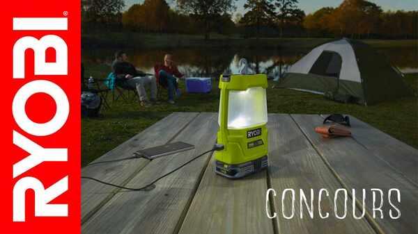 Jeu-concours RYOBI ONE+ spécial camping
