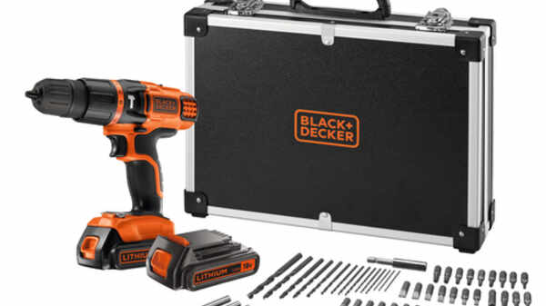 La perceuse à percussion sans fil EGBL188BAFC Black+Decker