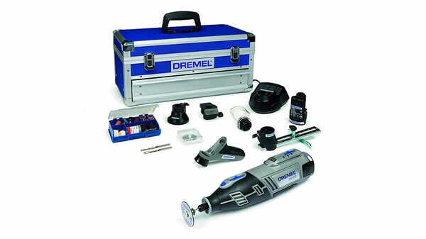 Dremel 8200-5/65 Outil rotatif multi-usage sans fil Li-Ion 1 coffret alu 2 batteries 5 adaptations et 65 accessoires