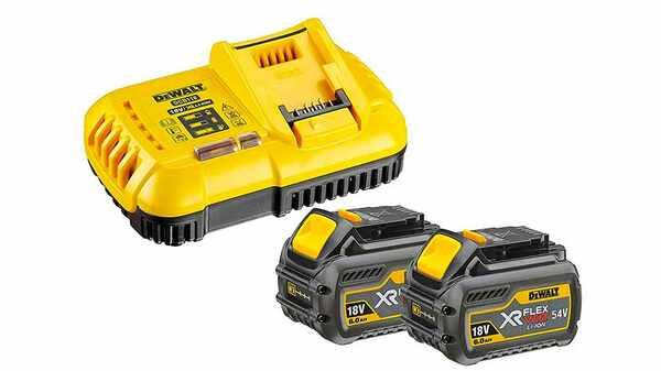 Pack chargeur DCB118T2 et Batterie Dewalt DCB546 Flexvolt Batterie li-Ion 54 V 2 Ah prix pas cher