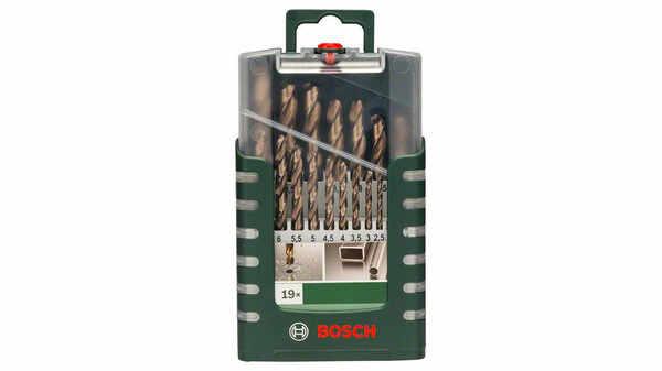 Bosch 2609255133 Set de 19 Forets à métaux rectifiés HSS-Cobalt pas cher