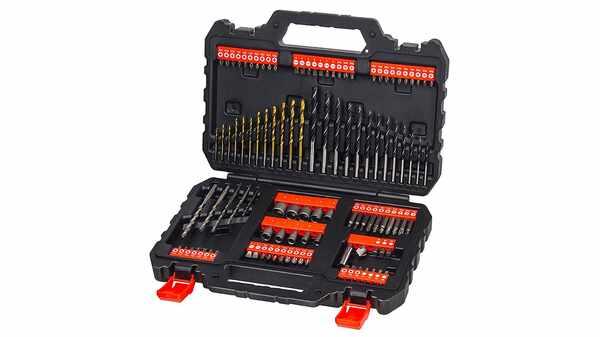 Black + Decker A7200-XJ Set de forets et douilles 109 pièces pas cher