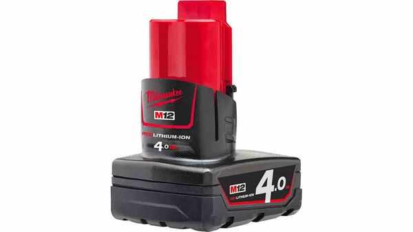 Batterie MILWAUKEE 12 V 4 Ah Red Li-Ion M12B4 - 4932430065