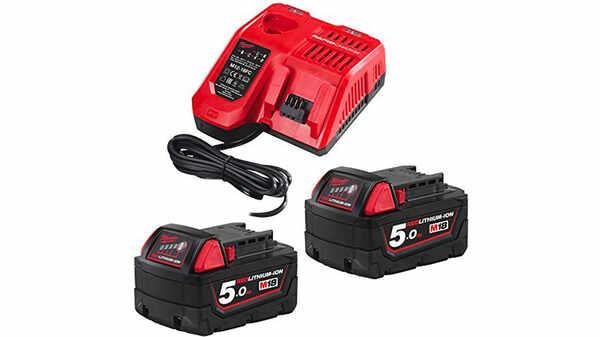 Pack NRJ Milwaukee 18 V 5,0 Ah M18 1 chargeur M12-18FC