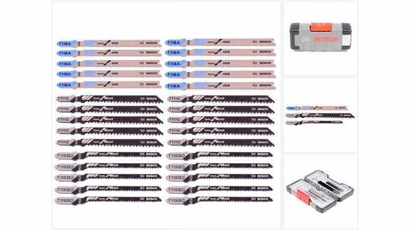 Bosch 2607010903 Set de 30 Lames de scie sauteuse bois and metal T