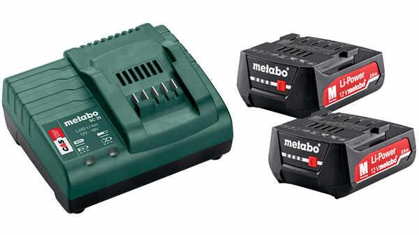 Pack 2 batteries 12V 2Ah et un chargeur SC 30 Metabo