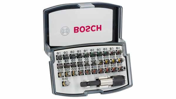 Bosch 2607017319 Coffret d'embouts et douilles 32 pièces
