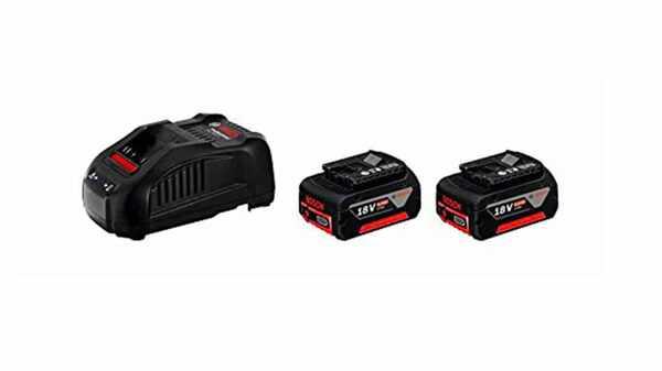 BOSCH Pack 2 batteries 18V 6Ah + Chargeur GAL1880 CV - 1600A00B8L