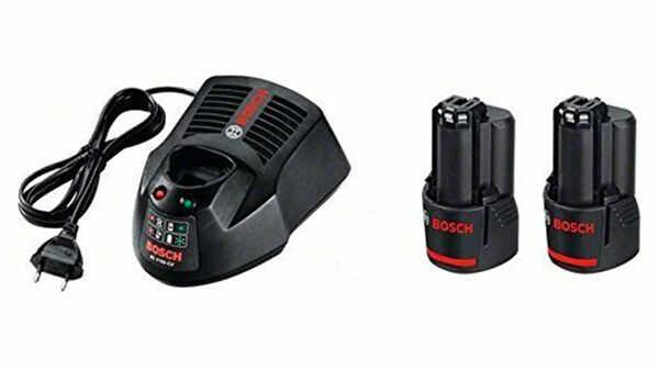 Batterie Bosch 12 V 2.5 Ah et chargeur professionnel