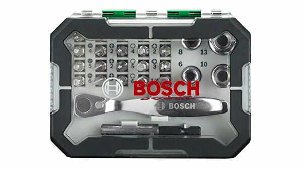 Bosch 2607017322 Set de 26 Embouts de vissage et cliquet pas cher