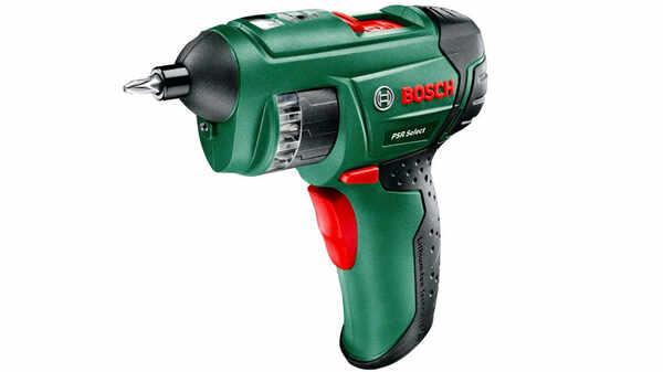 Bosch Visseuse sans fil à barillet PSR Select avec coffret, 12 embouts de vissage intégrés, batterie intégrée et chargeur 0603977000