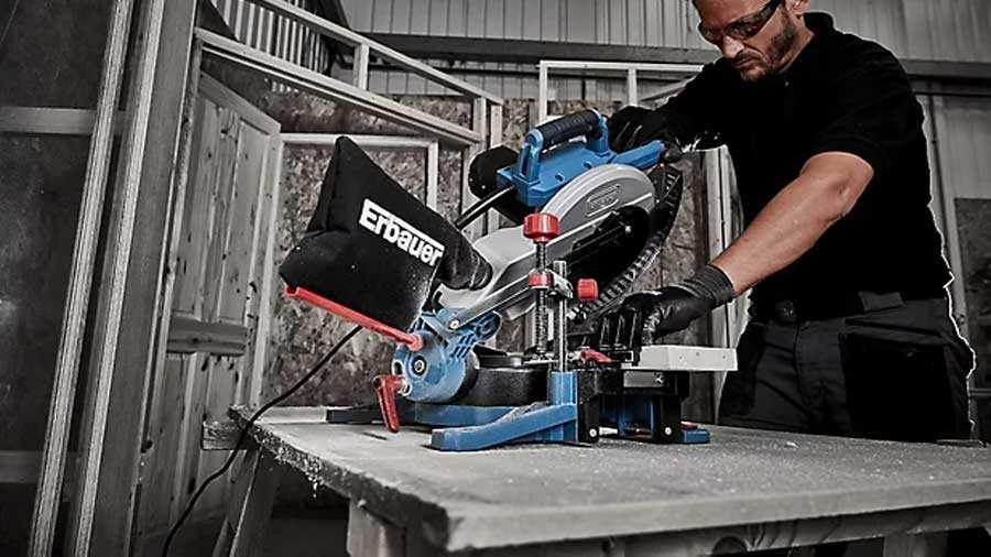 Scie à onglets Erbauer EMIS254C 254 mm