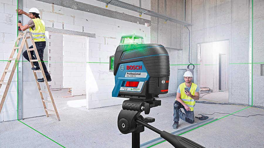 GLL 3-80 C et GLL 3-80 CG : les nouveaux lasers lignes connectés BOSCH