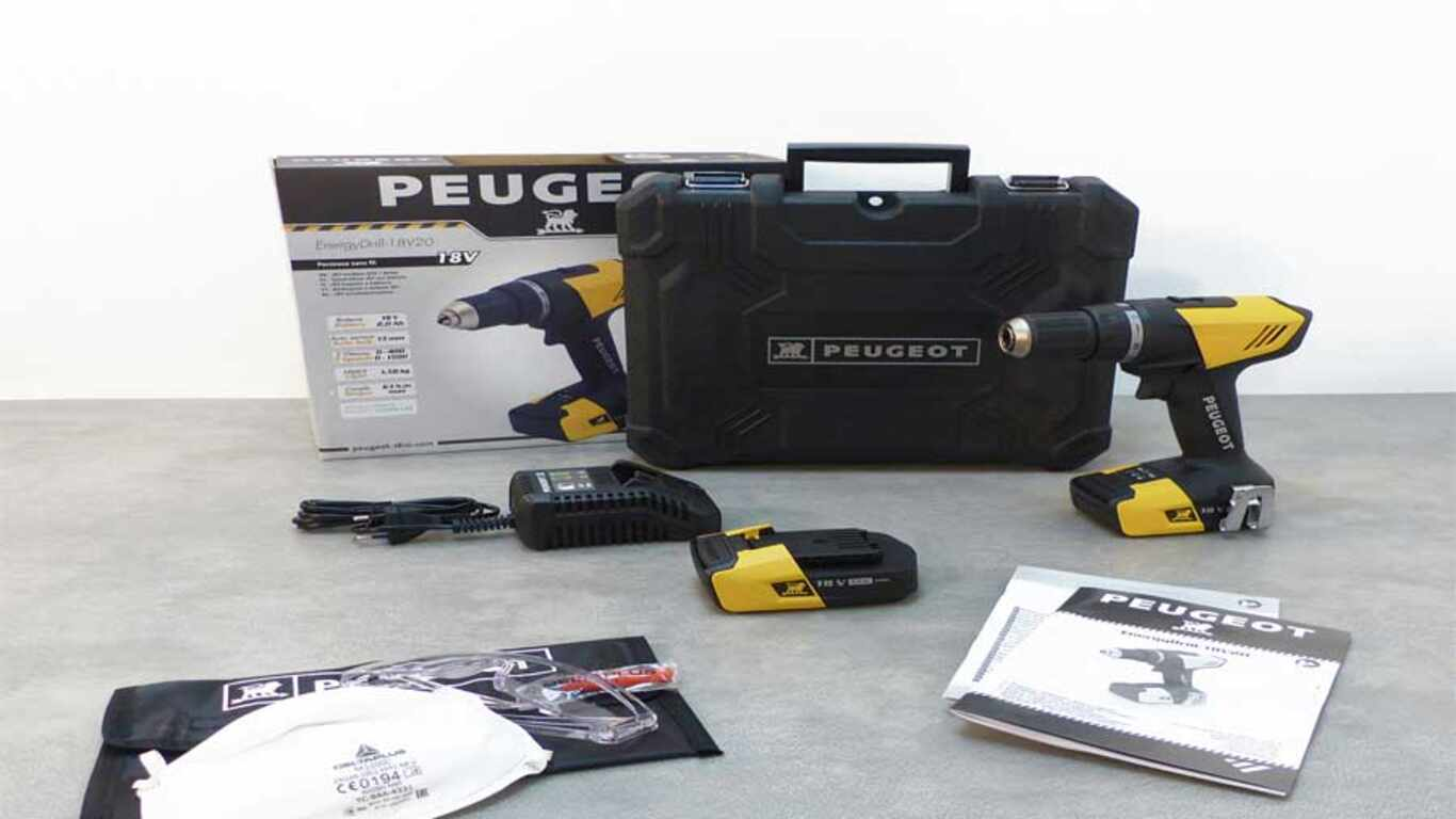Perceuse visseuse Peugeot outillage ENERGYDRILL-18V20