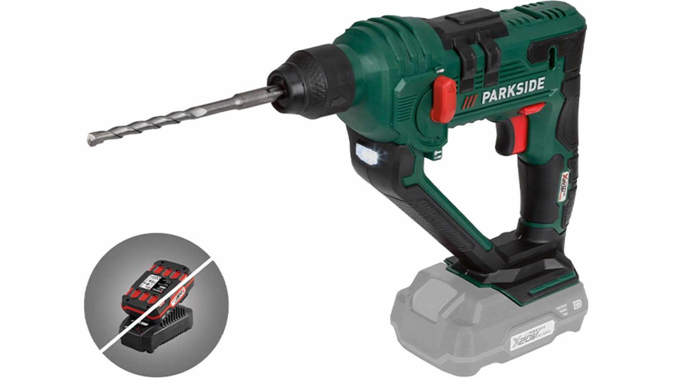 Marteau perforateur sans fil SDS-Plus Parkside PABH 20 - Li B2, 20 V
