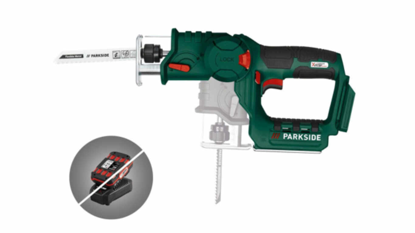Scie-sabre et scie sauteuse sans fil PSSA 20 - Li A1, 20 V Parkside