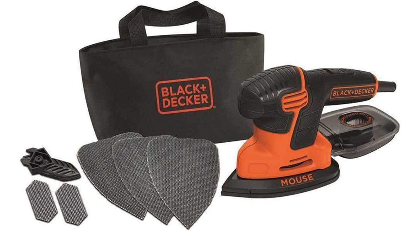 Ponceuse mouse filaire black decker KA2000 3 accessoires