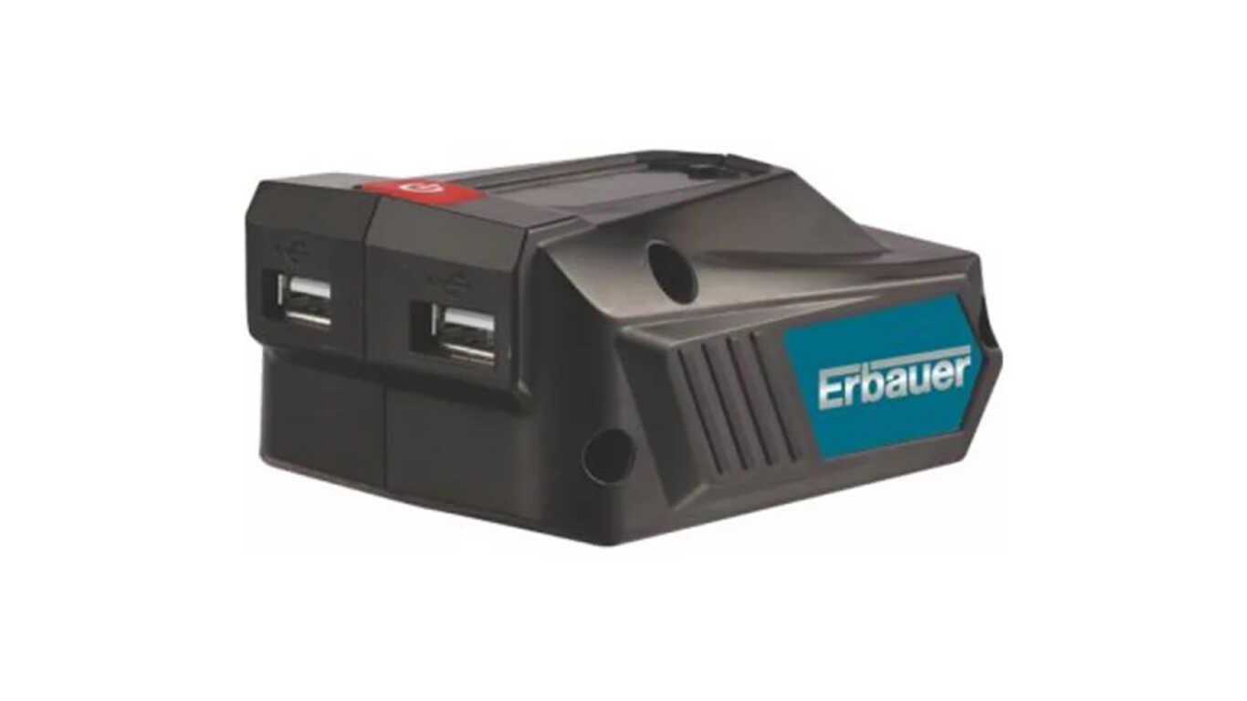 Adaptateur USB pour batteries 18 V Erbauer EUSB18-Li
