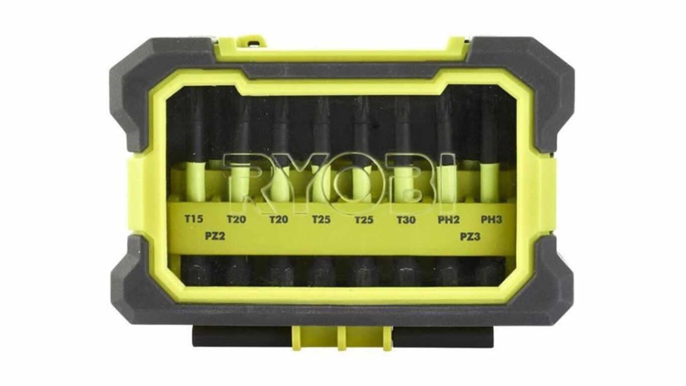 Coffret embouts de vissage Impact 10 accessoires Ryobi 4892210149084