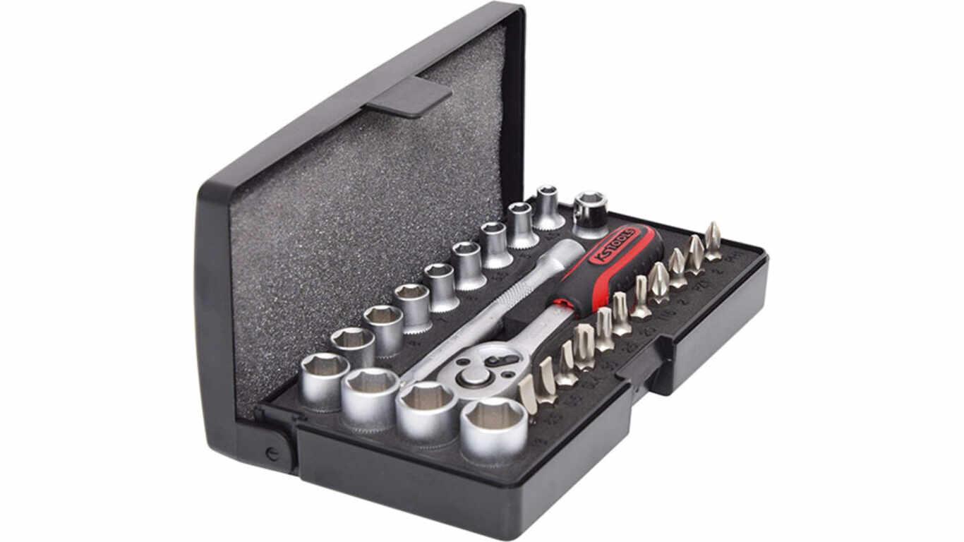 """KS Tools 917.0626 1/4"""" Jeu de douilles 26 pièces"""
