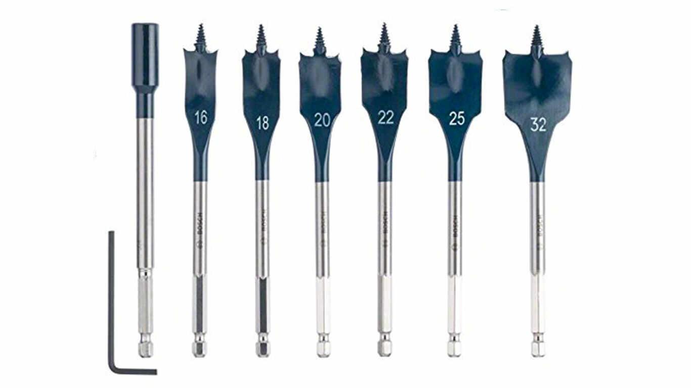 Bosch 2608587009 Assortiment de mèches plates Self Cut Speed