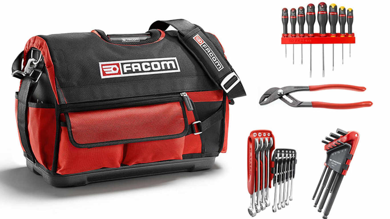Facom Boîte textile PROBAG + 27 Outils BS.T20CM1PG pas cher