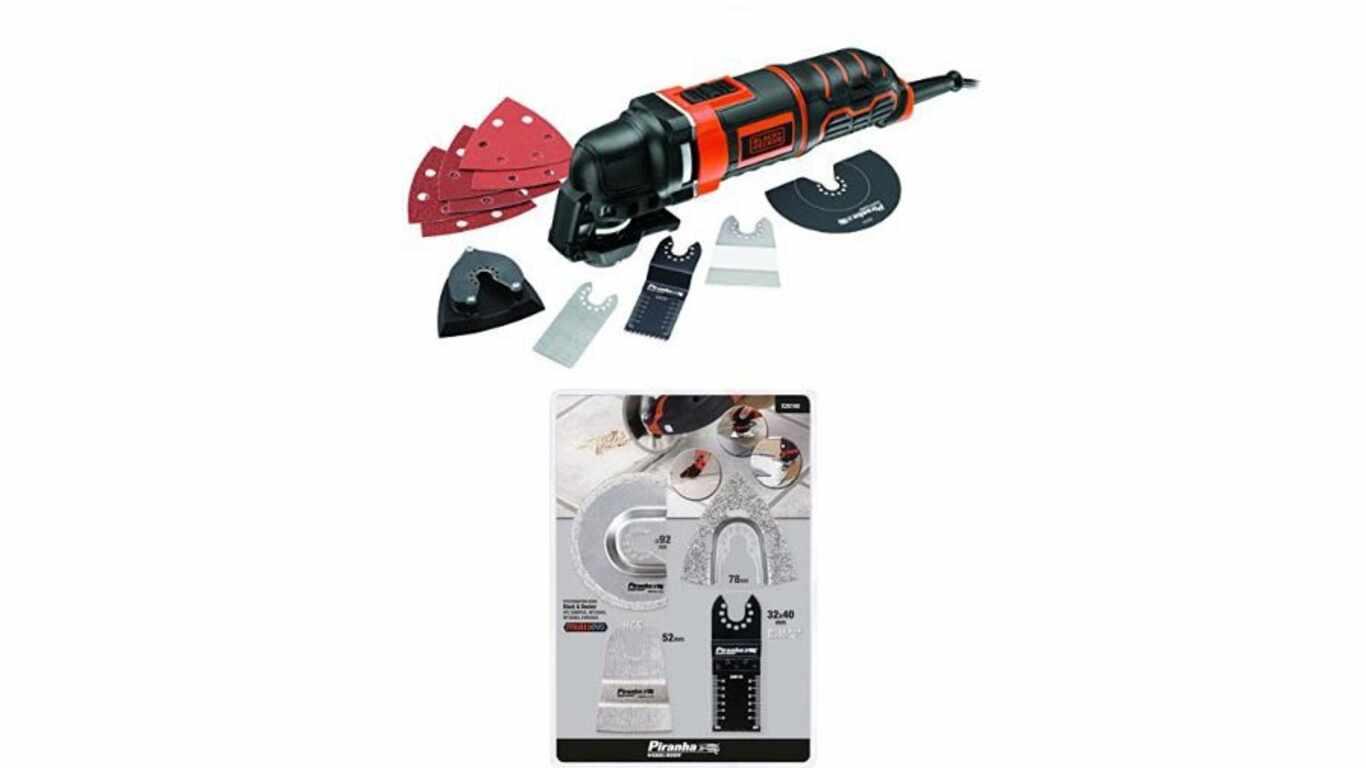 Test et avis de l'outil multifonctions MT300KA BLACK+DECKER et Piranha x26160-xj carrelage