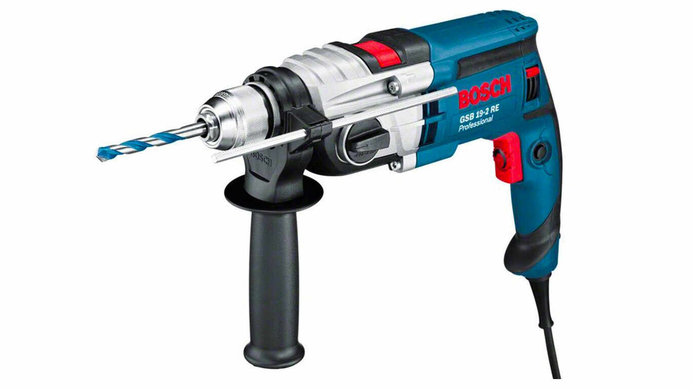 Bosch Professional 060117B500 GSB 19-2 RE Perceuse à percussion, 850 W Coffret