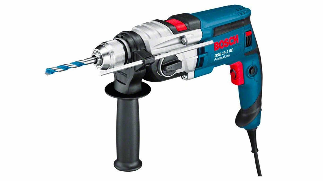 Bosch Professional 060117B500 GSB 19-2 RE Perceuse à percussion, 850 W Coffret