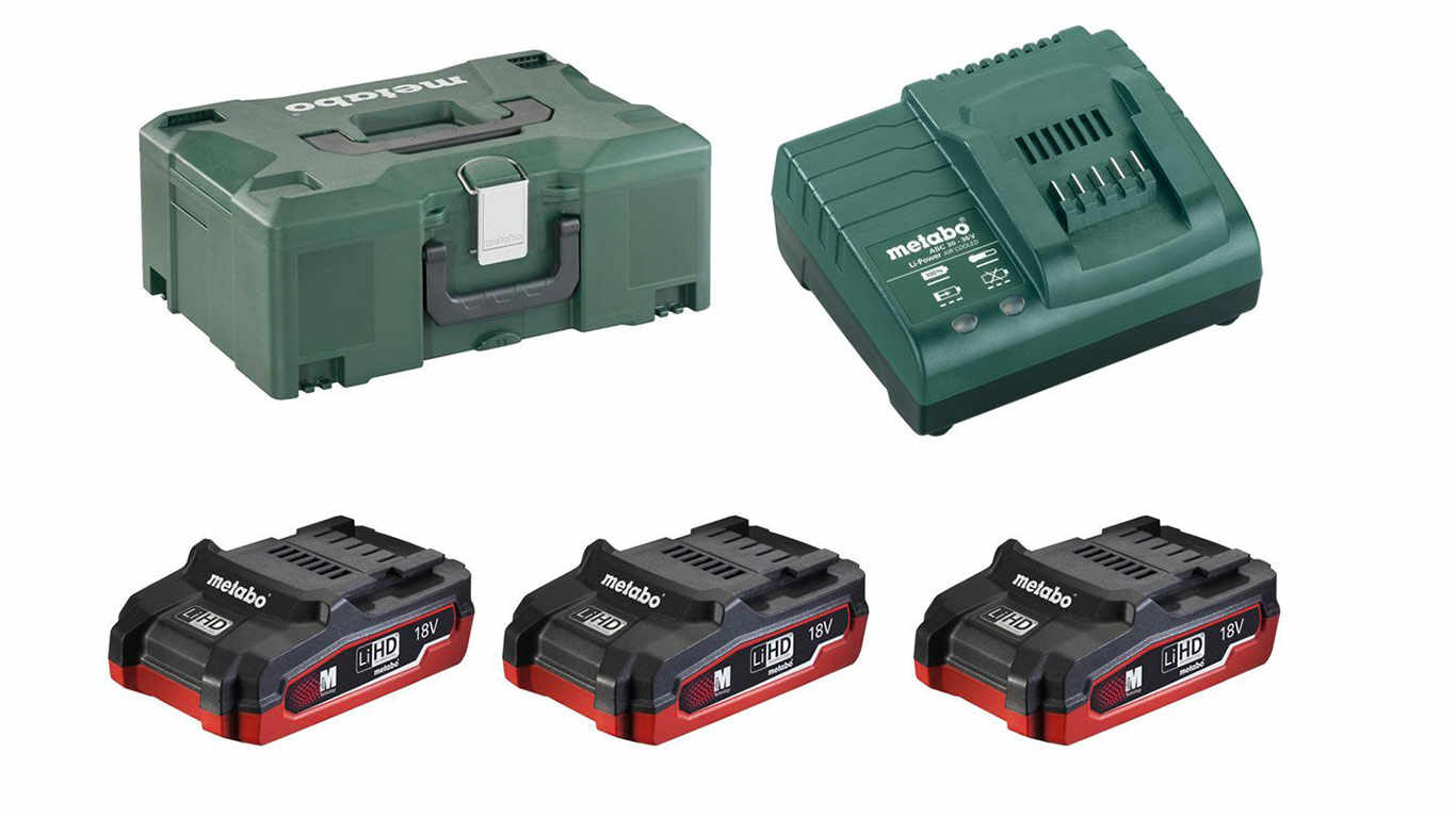 Pack batterie et chargeur Metabo 18 V 3.1 Ah LiHD 685075000