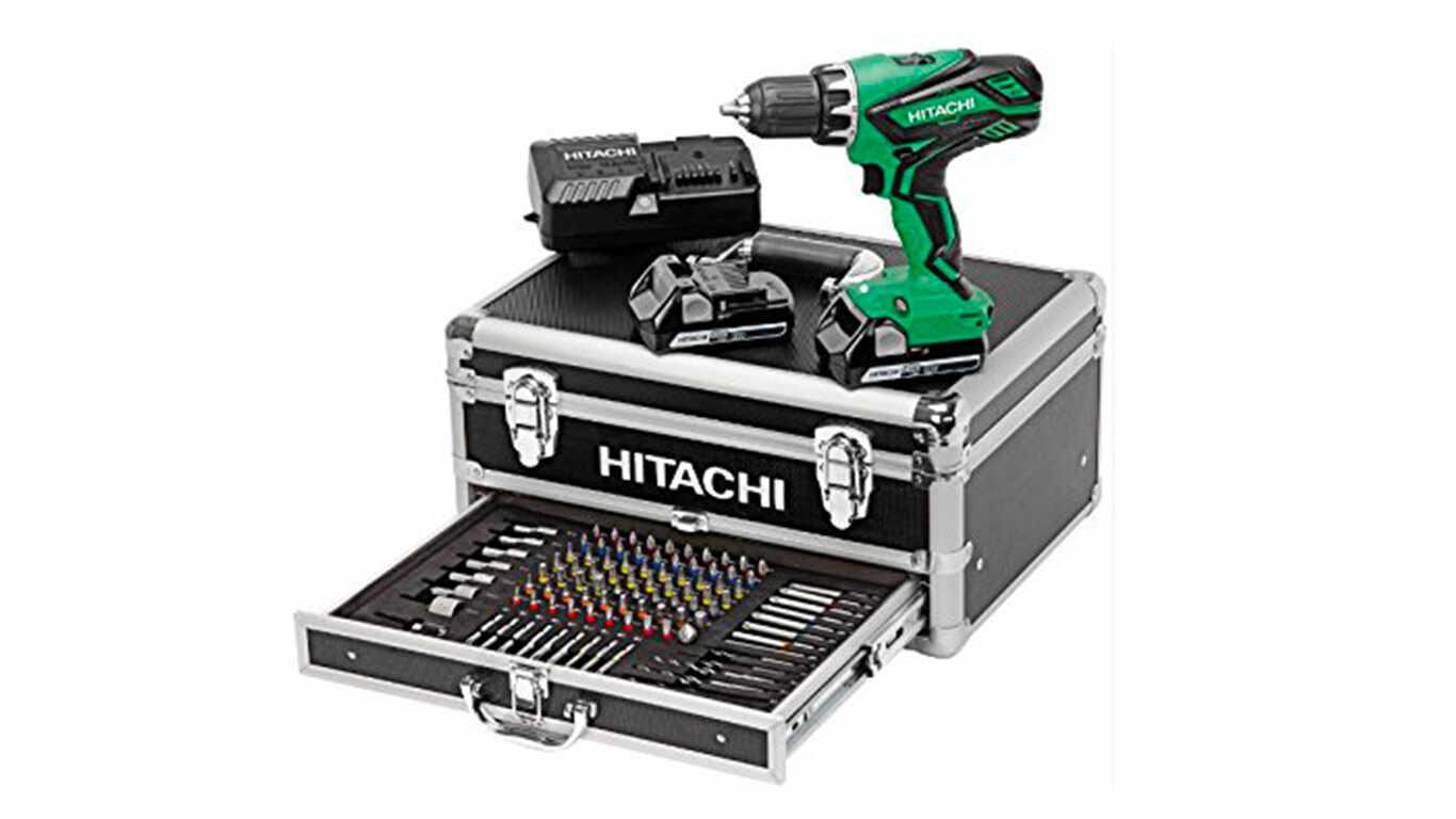 Hitachi KC18DJLF Perceuse visseuse 2 x 18 V 2,5 Ah + 100 Accessoires pas cher