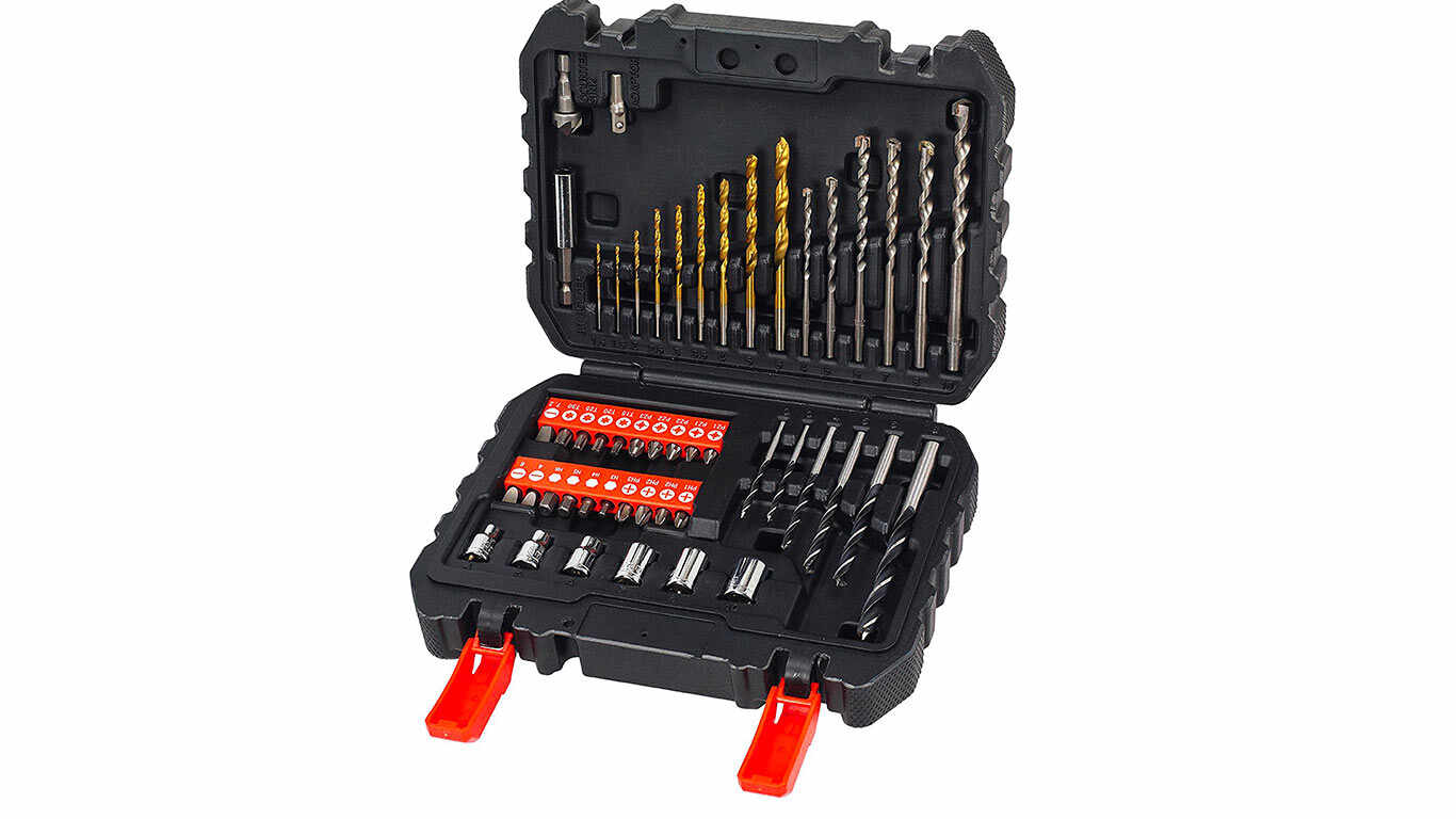 Black + Decker A7188 Kit d'embouts et de mèches pour visseuses et perceuses 50 pièces