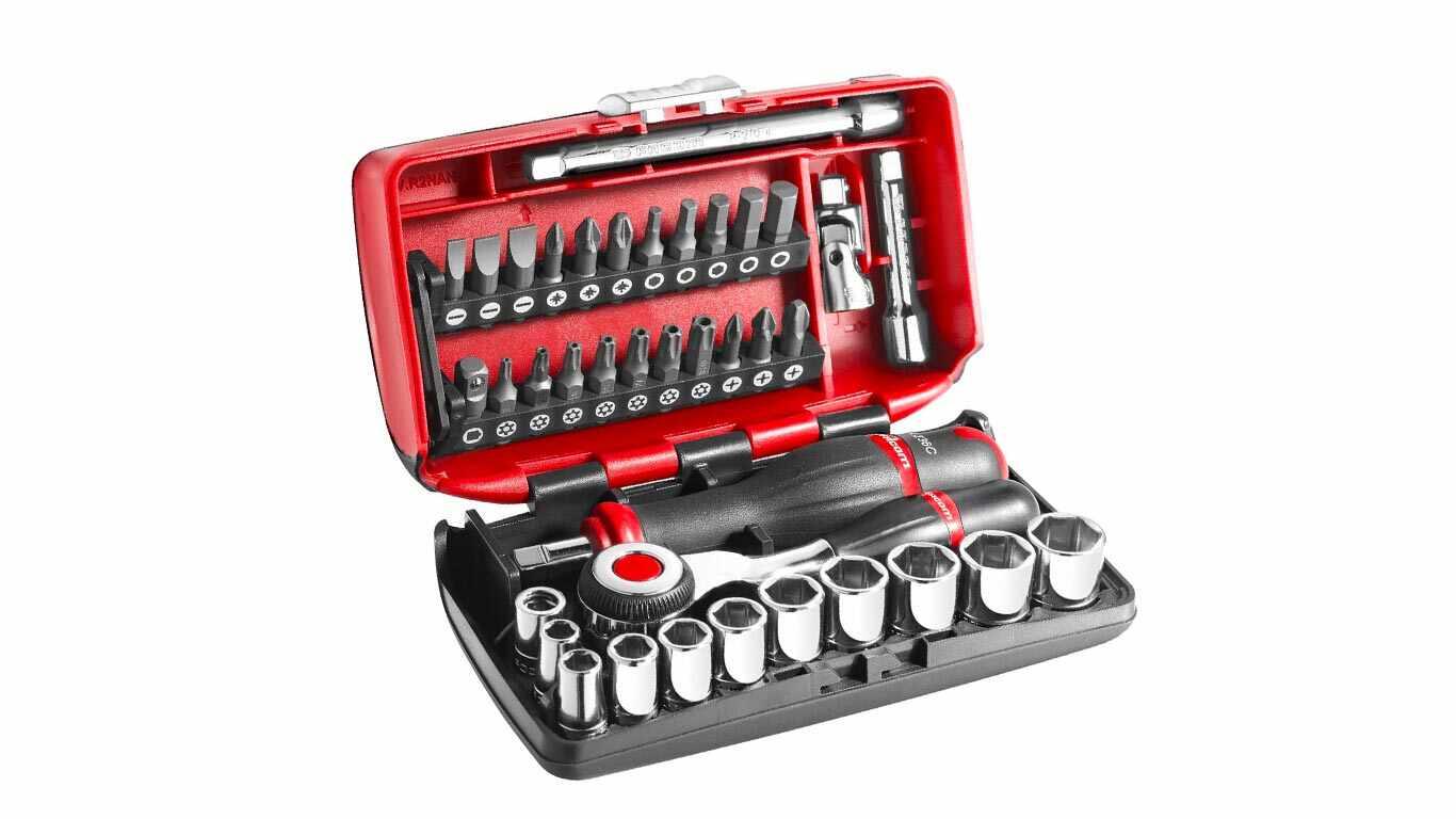 """Facom R360NANO.PG Coffret Compact de serrage 1/4"""" avec set de vissage 38 outils pas cher"""