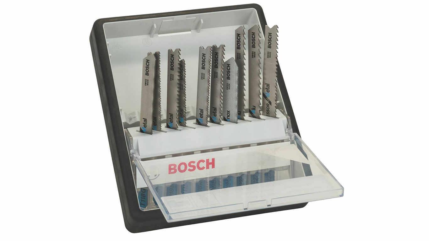 Bosch Robust Line / 2607010541 Coffret de lames pour scie sauteuse 10 pièces Métal
