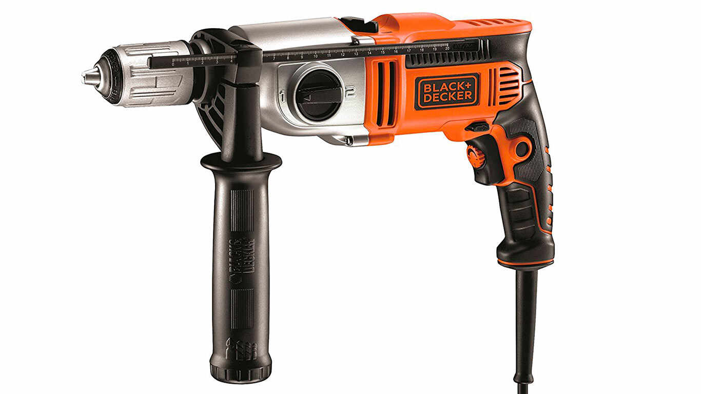 Black + Decker KR1102K Perceuse à percussion filaire 1100 W pas cher