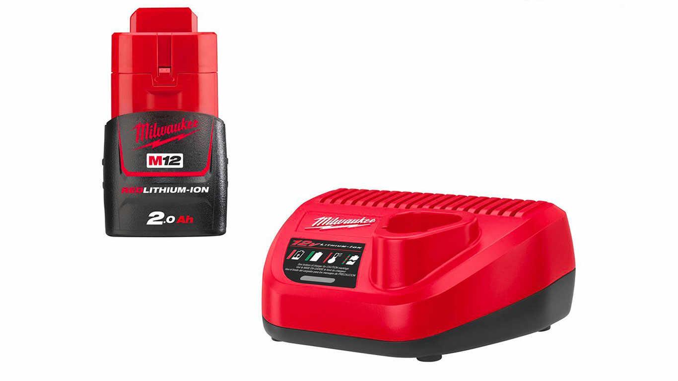 Pack batterie et chargeur NRJ Milwaukee 12 V 2,0 Ah M12
