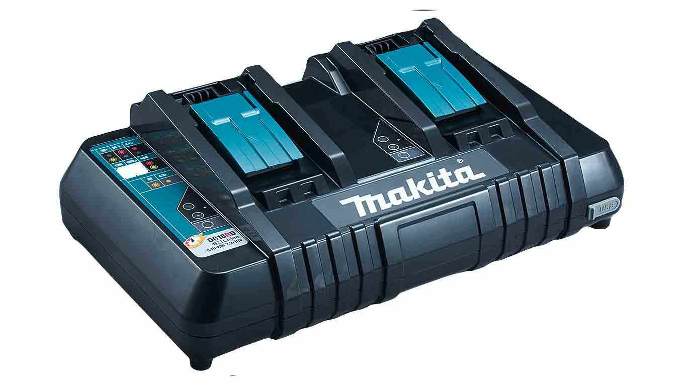 Chargeur de batteries Makita DC18RD double slot 18 V pas cher